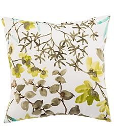 "Jaipur Living Gazebo White/ Brown Floral Indoor/ Outdoor Throw Pillow 20"""