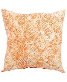 "Jaipur Living Darrow Fresco Orange/White Ikat Indoor/ Outdoor Throw Pillow 18"""