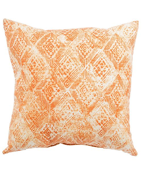 Jaipur Living Darrow Fresco Orange/White Ikat Indoor/ Outdoor Throw Pillow 18""