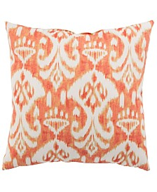 "Jaipur Living Rivoli Fresco Orange/White Ikat Indoor/ Outdoor Throw Pillow 20"""