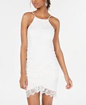 63f3a68b7 Speechless Juniors' Lace Halter Wrap Skirt Dress