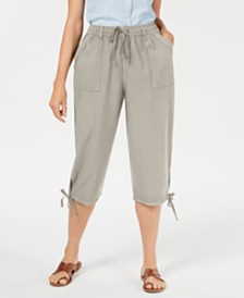 Karen Scott Petite Dahlia Cargo Capri Pants, Created for Macy's