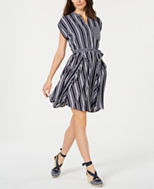 Charter Club Petite Striped Dress, Created for Macy's