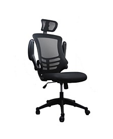Techni Mobili Modern High-Back Mesh Executive Office Chair, Quick Ship