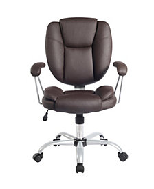 Techni Mobili Plush Task Office Chair, Quick Ship