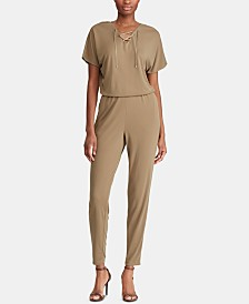 Lauren Ralph Lauren Lace-Up Jumpsuit