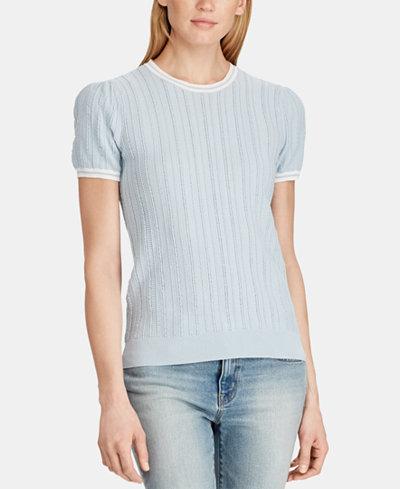 Lauren Ralph Lauren Short-Sleeve Sweater