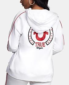 True Religion Logo-Print Hoodie