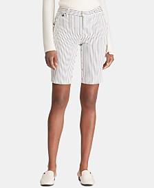 Lauren Ralph Lauren Striped Twill Shorts