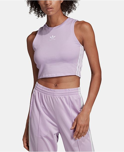 909bc254976 adidas adicolor Cotton Cropped Tank Top & Reviews - Tops - Women ...