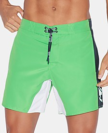 "Men's Colorblocked Logo-Print 5"" Swim Trunks"