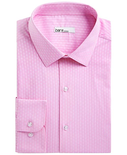 Bar III Men's Slim-Fit Stretch Daisy Dobby Dress Shirt, Created for Macy's