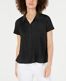 Eileen Fisher Organic Linen Button-Down Top
