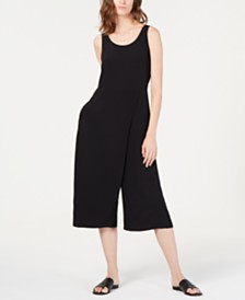 Eileen Fisher Faux-Wrap Cropped Jumpsuit