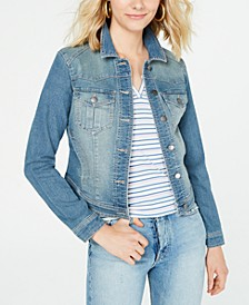 Love, Fire Juniors' Denim Jacket