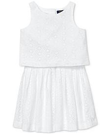 Toddler Girls Cotton Eyelet Top & Skirt Set