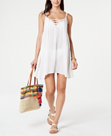 Roxy Sleeveless Lace-Up Cover-Up