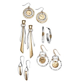 Robert Lee Morris Soho Two-Tone Statement Earring Collection