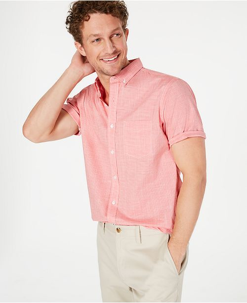 Club Room Men's Stretch Performance Micro-Check Shirt, Created for Macy's