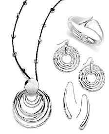 Silver-Tone Geometric Jewelry Separates