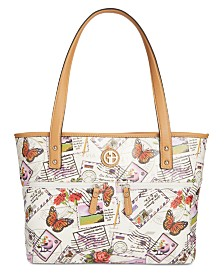 Giani Bernini Canvas Postcard Tote, Created for Macy's