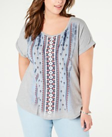Style & Co Plus Size Graphic T-Shirt, Created for Macy's