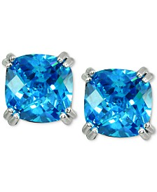 Giani Bernini Cubic Zirconia Square Stud Earrings in Sterling Silver, Created for Macy's