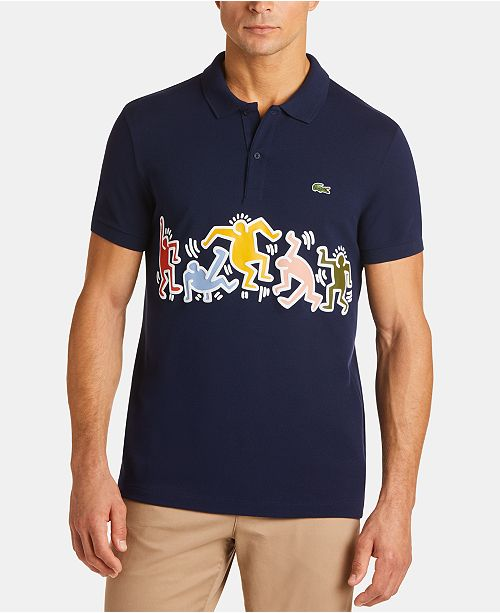 Lacoste x Keith Haring Men's Classic-Fit Pique Graphic Polo Shirt