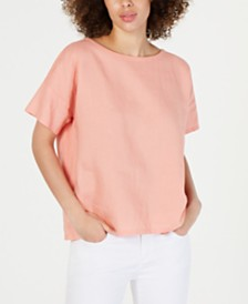 Eileen Fisher Organic Linen Top
