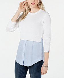 Tommy Hilfiger Layer Look Sweater, Created for Macy's