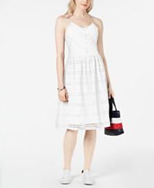 Tommy Hilfiger Cotton Eyelet Camisole Dress