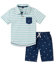 Baby Boys 2-Pc. Polo Shirt & Shorts Set