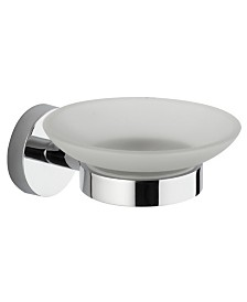 Nameeks General Hotel Chrome Wall-Mounted Frosted Glass Soap Dish