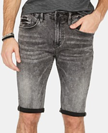Buffalo David Bitton Men's Parker-X Slim-Fit Stretch Acid-Wash Denim Shorts