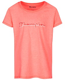Champion Little Girls Script Logo T-Shirt
