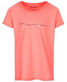 Champion Big Girls Script Logo T-Shirt
