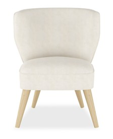 Whim Collection Shane Curved Armless Chair, Quick Ship, Created for Macy's