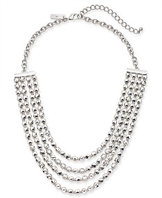 fd543caa4 I.N.C. Silver-Tone Nugget Bead Layered Statement Necklace, 20