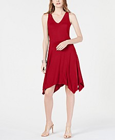 INC Sleeveless Asymmetrical-Hem Dress, Created for Macy's