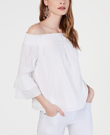 I.N.C. Shine Off-The-Shoulder Top, Created for Macy's