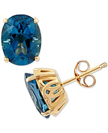 London Blue Topaz (4-1/4 ct. t.w.) Stud Earrings in 14k Gold