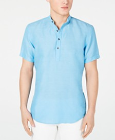 I.N.C. Men's Cameron Linen Shirt, Created for Macy's