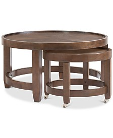 Lilah Round Cocktail Nesting Table