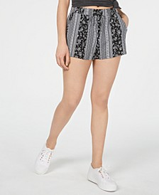 Juniors' Printed Soft Shorts