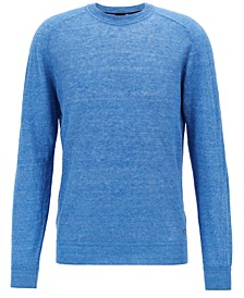 BOSS Men's Knit Linen Sweater