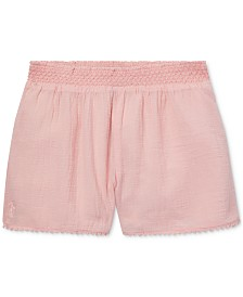 Polo Ralph Lauren Big Girls Lace-Trim Cotton Shorts