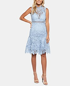 Elise Lace Fit & Flare Dress