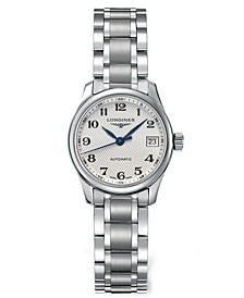 Women's Swiss Automatic Master Stainless Steel Bracelet Watch 26mm L21284786