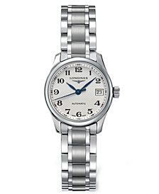 Longines Women's Swiss Automatic Master Stainless Steel Bracelet Watch 26mm L21284786