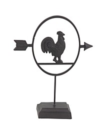 Farmhouse Metal Rooster Table Decor